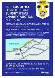 Patong Beach Charity Auction flyer
