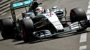 Lewis Hamilton at qualifying Monaco gp