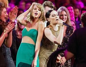 taylor-swift-jessie-j at the 2015 Billboard Music Awards