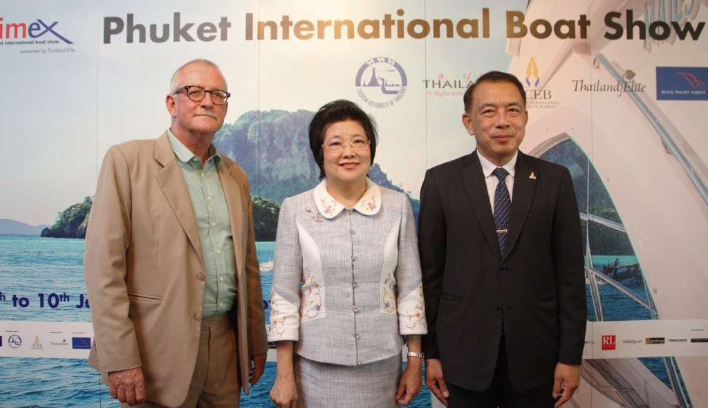 Phuket International Boat Show Press Conference with Mr Andy Dowden