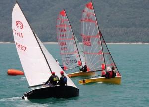 Tasar sailing at Phuket Yacht Club